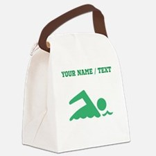 Green Swimmer (Custom) Canvas Lunch Bag