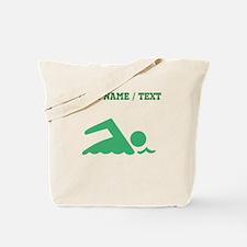 Green Swimmer (Custom) Tote Bag