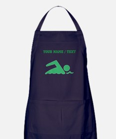 Green Swimmer (Custom) Apron (dark)