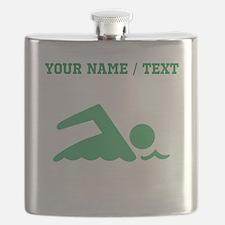 Green Swimmer (Custom) Flask