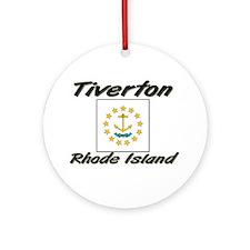 Tiverton Rhode Island Ornament (Round)