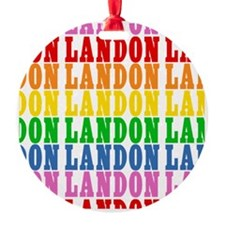 Rainbow Name Pattern Ornament