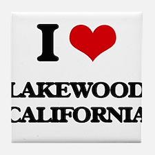 I love Lakewood California Tile Coaster