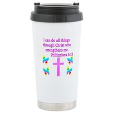 PHILIPPIANS 4:13 Travel Mug