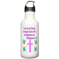 PHILIPPIANS 4:13 Sports Water Bottle