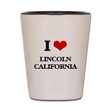I love Lincoln California Shot Glass