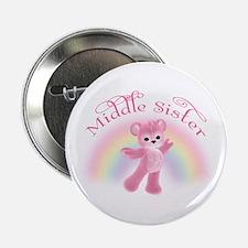 Rainbow Bear Middle Sister Button