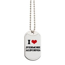 I love Livermore California Dog Tags
