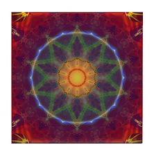 Rainbow Fractal kaleidoscope Tile Coaster