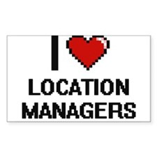 I love Location Managers Decal