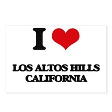 I love Los Altos Hills Ca Postcards (Package of 8)