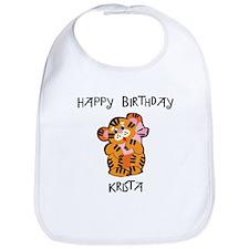 Happy Birthday Krista (tiger) Bib