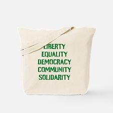 liberty equality (green) Tote Bag