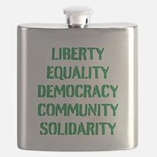 liberty equality (green) Flask
