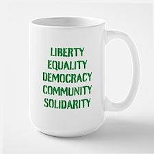 liberty equality (green) Mugs