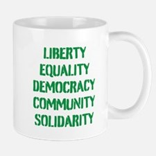 liberty equality (green) Mugs
