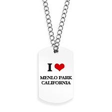 I love Menlo Park California Dog Tags