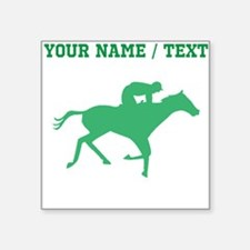 Green Horse Racing Silhouette (Custom) Sticker