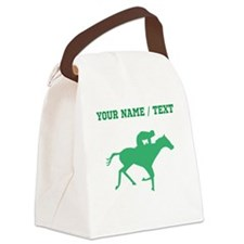Green Horse Racing Silhouette (Custom) Canvas Lunc