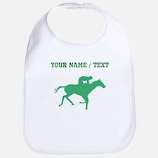 Green Horse Racing Silhouette (Custom) Bib