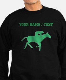 Green Horse Racing Silhouette (Custom) Sweatshirt