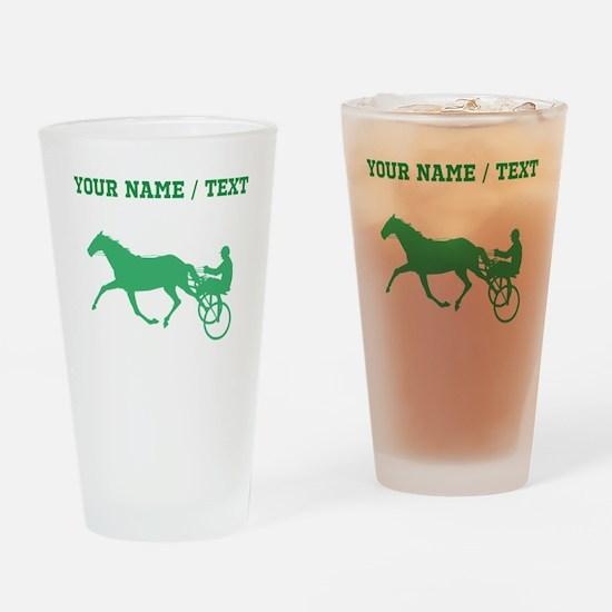Green Harness Racing (Custom) Drinking Glass
