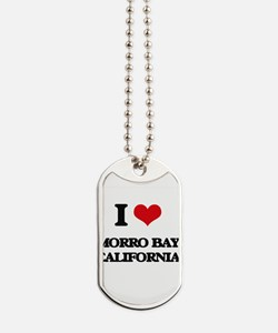 I love Morro Bay California Dog Tags