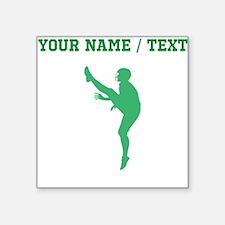 Green Football Punter Silhouette (Custom) Sticker