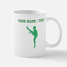 Green Football Punter Silhouette (Custom) Mugs