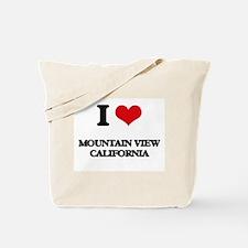 I love Mountain View California Tote Bag