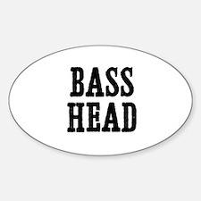 bass head Oval Decal