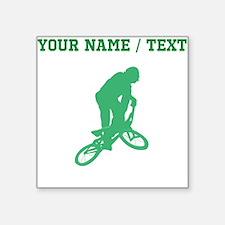 Green BMX Biker Silhouette (Custom) Sticker