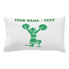 Green Cheerleader (Custom) Pillow Case