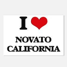 I love Novato California Postcards (Package of 8)