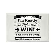 Retinoblastoma Warrior Rectangle Magnet