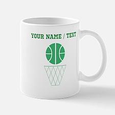 Green Basketball And Hoop (Custom) Mugs