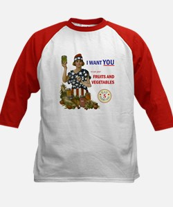 """""""Fruits and Vegetables"""" Kids Baseball Jersey"""