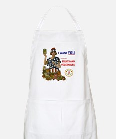 """Fruits and Vegetables"" BBQ Apron"