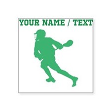 Green Lacrosse Player (Custom) Sticker