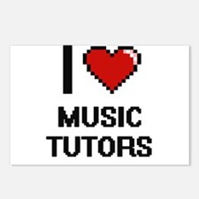 I love Music Tutors Postcards (Package of 8)