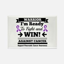 Pancreatic Cancer Warrior Rectangle Magnet