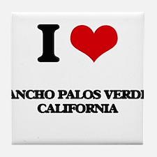 I love Rancho Palos Verdes California Tile Coaster
