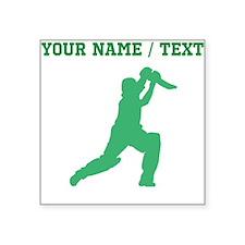 Green Cricket Player (Custom) Sticker