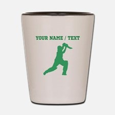 Green Cricket Player (Custom) Shot Glass