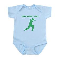 Green Cricket Player (Custom) Body Suit