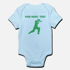 Green Cricket Player (Custom) Body Suit