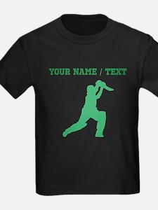 Green Cricket Player (Custom) T-Shirt