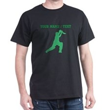 Green Cricket Player (Custom) T-Shirt