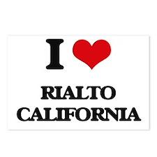 I love Rialto California Postcards (Package of 8)