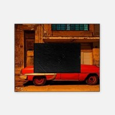 Classic Red American car at Dawn, Ha Picture Frame
